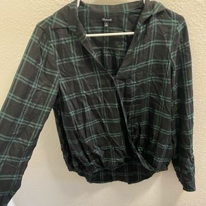 MADEWELL flannel blouse!!